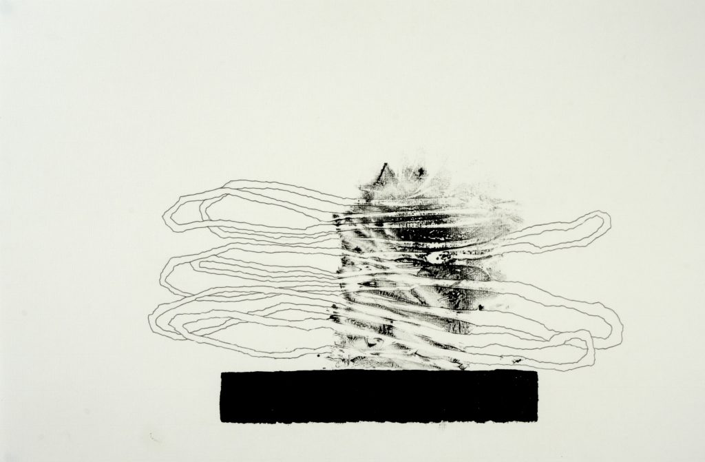 E monotype and pencil on paper 41x56 cm